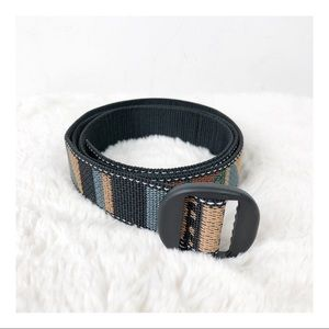 Bison Designs Nylon Patterned Multi Color Belt M